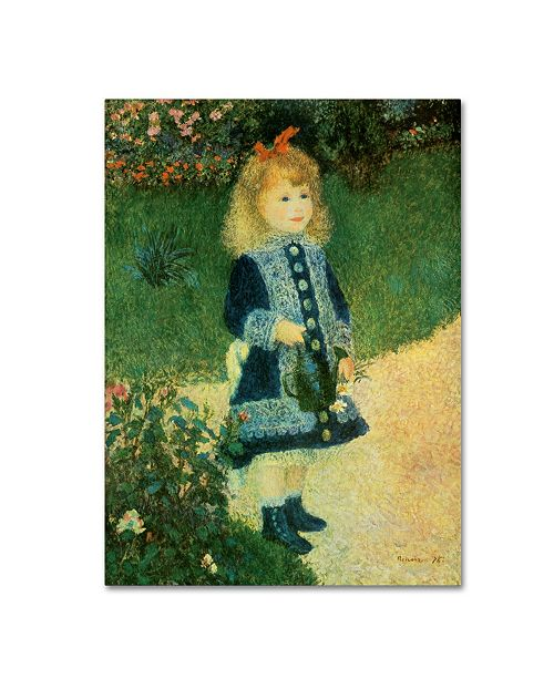 """Trademark Global Pierre-Auguste Renior 'Girl with Watering Can' Canvas Art - 19"""" x 14"""" x 2"""""""