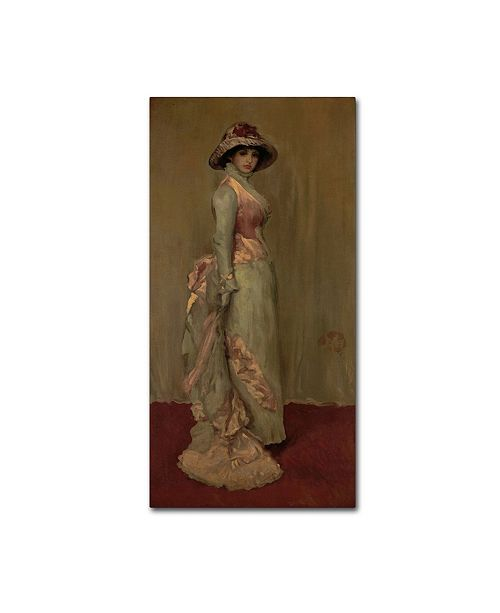 """Trademark Global Whistler 'Harmony In Pink And Gray Lady Meux' Canvas Art - 10"""" x 19"""" x 2"""""""