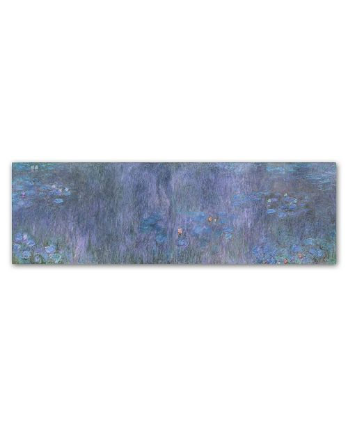 """Trademark Global Monet 'The Water Lillies Tree Reflections' Canvas Art - 19"""" x 6"""" x 2"""""""