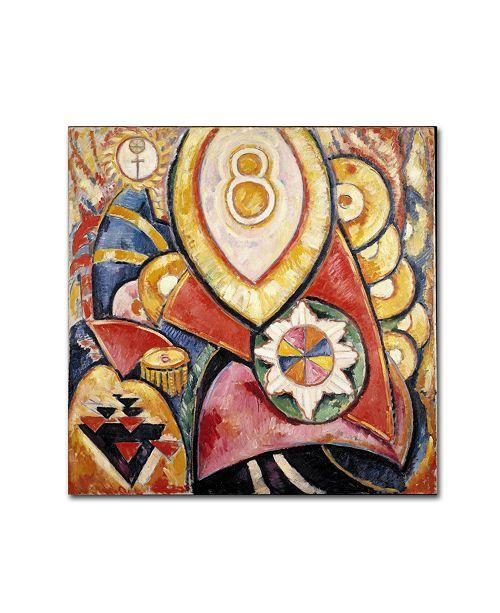 "Trademark Global Marsden Hartley 'Painting No 48' Canvas Art - 24"" x 24"" x 2"""