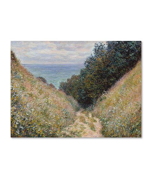 "Trademark Global Monet 'Road At La Cavee Pourville' Canvas Art - 19"" x 14"" x 2"""