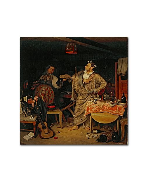 "Trademark Innovations Pavel Fedotov 'The Fresh Cavalier' Canvas Art - 14"" x 14"" x 2"""