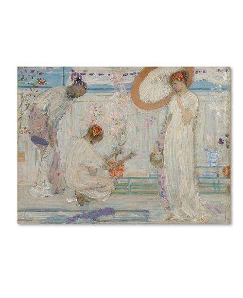 "Trademark Global Whistler 'The White Symphony With Three Girls' Canvas Art - 32"" x 24"" x 2"""