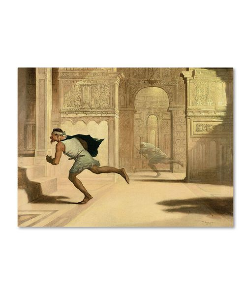 """Trademark Global William Rimmer 'Flight And Pursuit' Canvas Art - 19"""" x 14"""" x 2"""""""