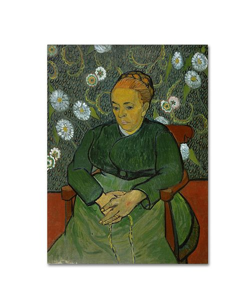 "Trademark Global Van Gogh 'La Berceuse' Canvas Art - 19"" x 14"" x 2"""
