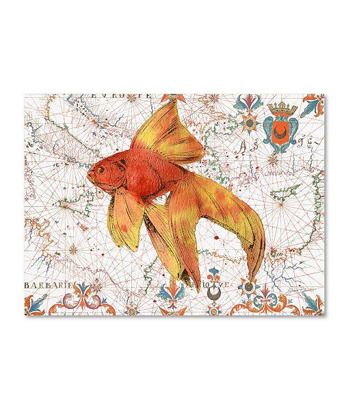 "Trademark Global Jean Plout 'Nautical Treasures 7' Canvas Art - 24"" x 18"" x 2"""
