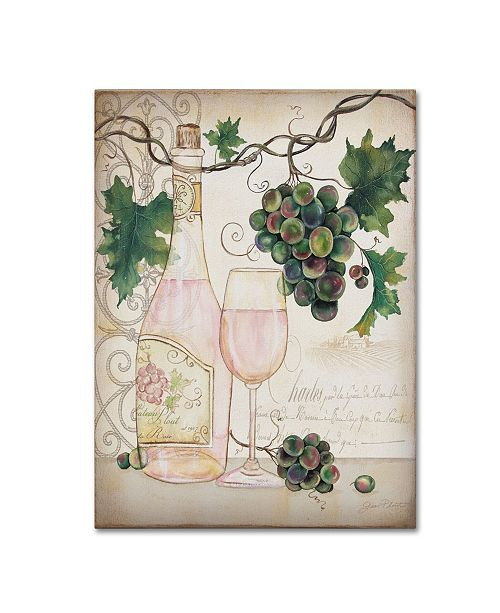"""Trademark Global Jean Plout 'Chateau Plout Wine 1' Canvas Art - 47"""" x 35"""" x 2"""""""