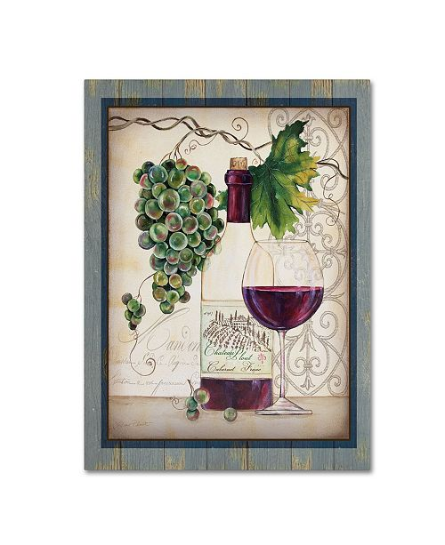 "Trademark Global Jean Plout 'Chateau Plout Wine 4' Canvas Art - 19"" x 14"" x 2"""