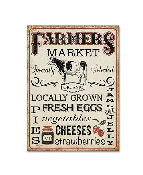 "Trademark Global Jean Plout 'Farmers Organic Market' Canvas Art - 32"" x 24"" x 2"""