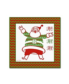 "Jean Plout 'Ugly Christmas Sweater Santa 2' Canvas Art - 18"" x 18"" x 2"""