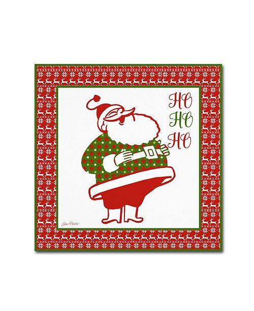 "Trademark Global Jean Plout 'Ugly Christmas Sweater Santa 4' Canvas Art - 24"" x 24"" x 2"""