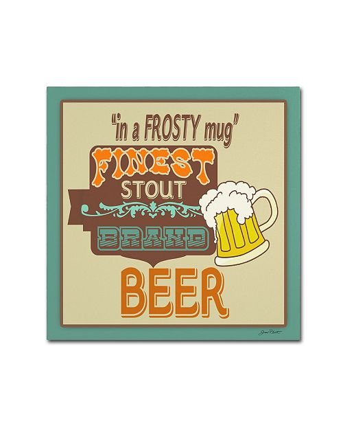 "Trademark Global Jean Plout 'Beer 5' Canvas Art - 18"" x 18"" x 2"""