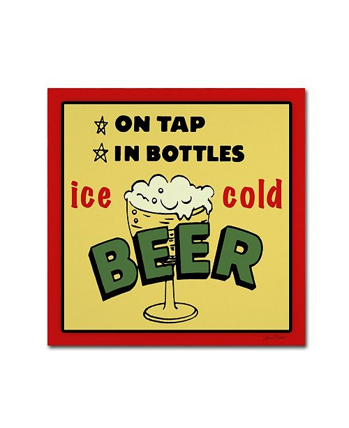 "Trademark Global Jean Plout 'Beer 7' Canvas Art - 24"" x 24"" x 2"""