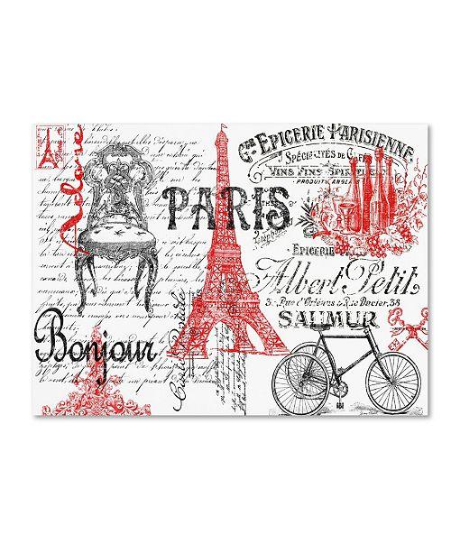 "Trademark Global Jean Plout 'Paris Tray 2' Canvas Art - 32"" x 24"" x 2"""