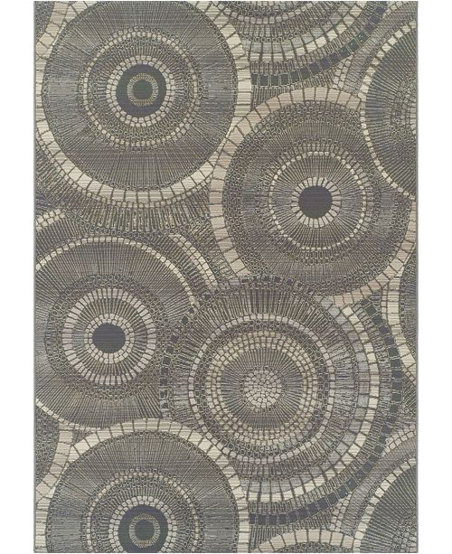 "D Style Weekend Wkd1 Steel 3'3"" x 5'1"" Area Rug"