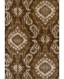 "D Style Weekend Wkd7 Chocolate 3'3"" x 5'1"" Area Rug"