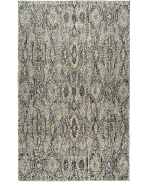 """D Style Tempo Tem2 Silver 3'3"""" x 5'3"""" Area Rug"""