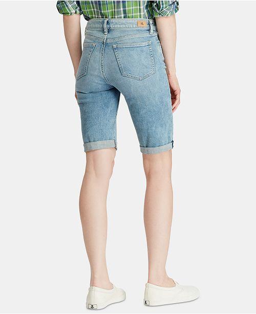 18e3622d78 Lauren Ralph Lauren Petite Denim Twill Shorts   Reviews - Shorts ...