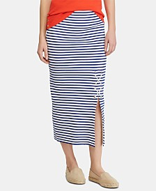 Lauren Ralph Lauren Petite Striped Skirt