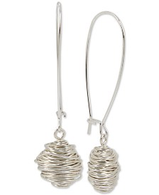 Robert Lee Morris Soho Silver-Tone Wire-Wrapped Drop Earrings