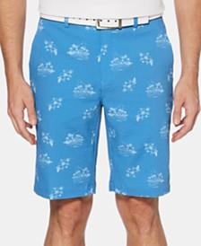 PGA TOUR Men's Printed Flat-Front Shorts