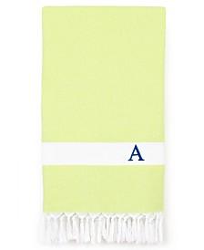 Linum Home Personalized Diamond Pestemal Green Beach Towel