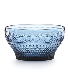 Lenox Global Tapestry Glass Fruit Bowl Sapphire