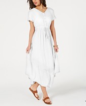 9b33af6b1 Style & Co Eyelet Handkerchief-Hem Maxi Dress, Created for Macy's