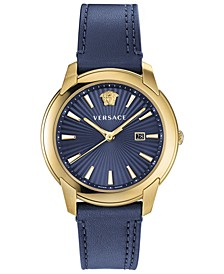 Men's Swiss V-Urban Blue Leather Strap Watch 42mm
