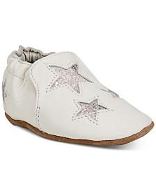 Robeez Baby Girls Aria Beige Soft Sole Shoes
