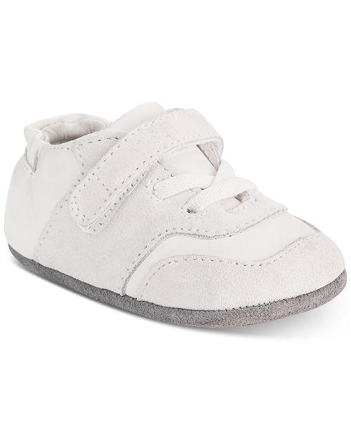Robeez Baby Boys Mini Oakley White Shoes