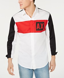 Armani Exchange Men's Logo Graphic Shirt