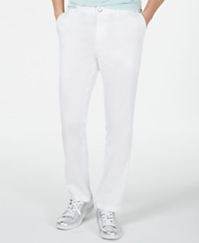 I.N.C. Men's Slim-Fit Stretch Linen Pants, Created for Macy's