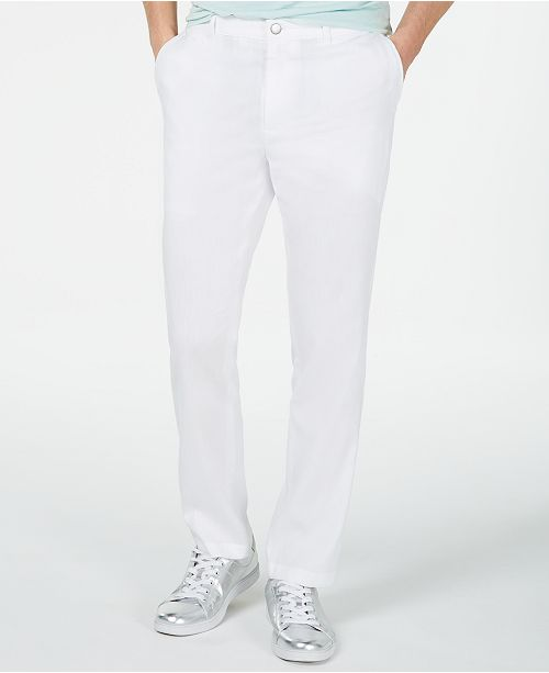 INC International Concepts I.N.C. Men's Slim-Fit Stretch Linen Pants, Created for Macy's