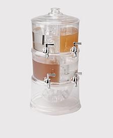 Beverage Dispenser 2 Tier Stackable Drink Holder with Lids
