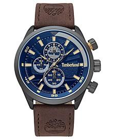 Men's Needham Chronograph Brown/Gunmetal/Blue Watch