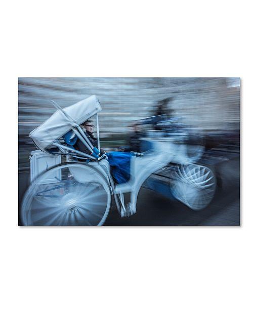 "Trademark Global Moises Levy 'Motion Horse 2' Canvas Art - 24"" x 16"" x 2"""