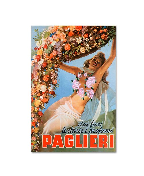 "Trademark Global Vintage Apple Collection 'Paglieri' Canvas Art - 32"" x 22"" x 2"""