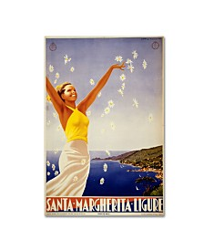"Vintage Apple Collection 'Santa Margherita Ligure' Canvas Art - 24"" x 16"" x 2"""