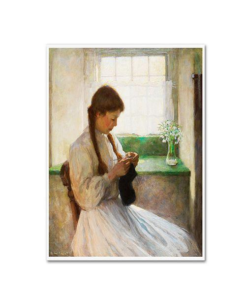 "Trademark Global Vintage Lavoie 'Women 1' Canvas Art - 24"" x 18"" x 2"""