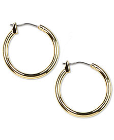 "Anne Klein 3/4"" Gold-Tone Hoop Earrings"