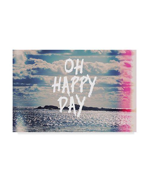 "Trademark Global Vintage Skies 'Oh Happy Day' Canvas Art - 32"" x 22"" x 2"""