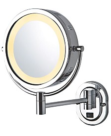 "The Jerdon HL165CD 8"" Lighted Wall Mount Direct Wire Makeup Mirror"