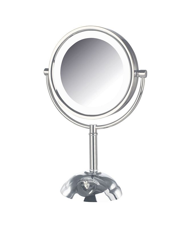 "Jerdon The HL8808CL 8.5"" Tabletop Two-Side Swivel LED Lighted Vanity Mirror"