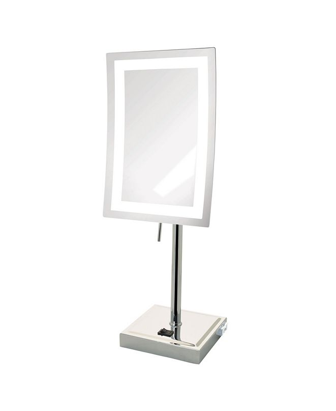 "Jerdon The JRT910CL 6.5"" x 9"" LED Lighted Tabletop Rectangular Mirror"