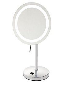 "The Sharper Image JRT950CL 8.5"" LED Lighted Table Top Mirror"