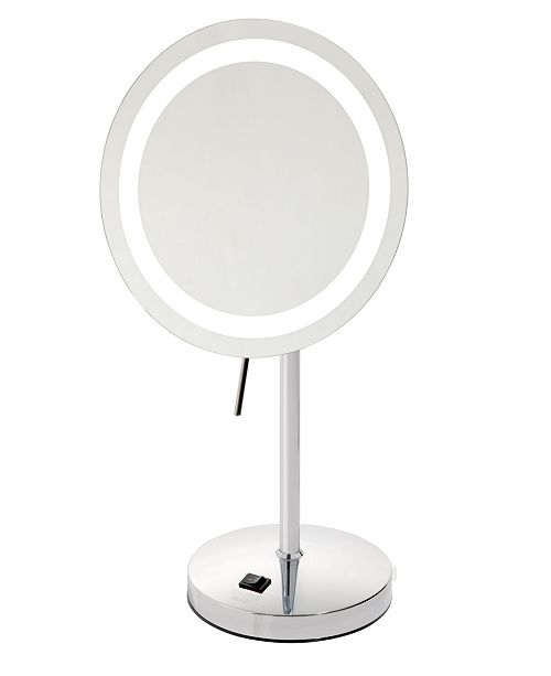 """Jerdon The Sharper Image JRT950CL 8.5"""" LED Lighted Table Top Mirror"""