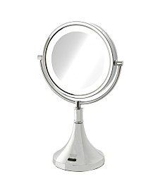 "The Sharper Image JRT8500CL 8.5"" LED Lighted Table Top Mirror with Sensor"