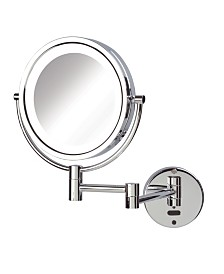 "The Sharper Image JRT9500CL 8.5"" LED Lighted Wall Mount Mirror with Sensor"