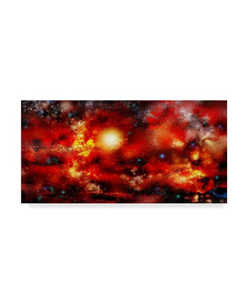 "Trademark Global RUNA 'Flame Planet' Canvas Art - 24"" x 12"" x 2"""